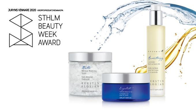 Bästa Kroppsprodukt/Hemmaspa 2020 – Kerstin Florians produkter får utmärkelse!