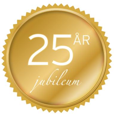 Vi firar 25 år i Skandinavien!